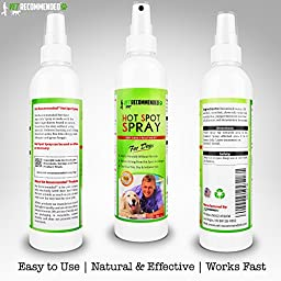 NEW Vet Recommended - Hot Spot Treatment For Dogs - Relieves Dog Dry Skin - Antifungal Spray for Anti Itch Dry Skin Relief. Hot Spots for Dogs By Using Our Safe Dog Anti Itch Spray (8oz/240ml)