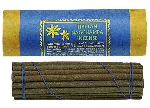 Nagchampa Incense - Traditional Tibetan Style - 30 Sticks and Holder