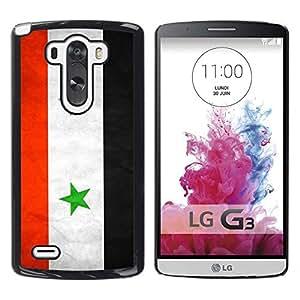TopCaseStore / la caja del caucho duro de la cubierta de protección de la piel - Syria Grunge Flag - LG G3 D855 D850 D851