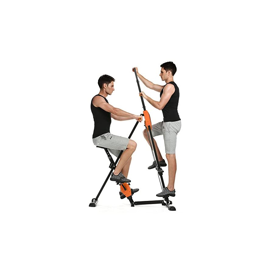 Fanala Vertical Climber Exercise Climbing Machine Exercise Bike for home 2 in 1(US Stock)