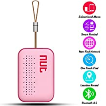 Smart Tag NUT Mini Bluetooth Anti-lost GPS Tracker Tracking Wallet Pets Key Finder Locator Sensor Remote Alarm for iOS/ iPhone/ iPod/ iPad/ Android (Pink)