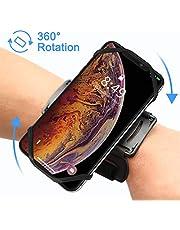 VUP Brassard 180° Rotation de Sport Anti-Sueur pour Téléphone Smartphone Bracelet pour iPhone X/8 Plus/7 Plus/6/6s, Samsung Galaxy S8/S7/S6 Huawei,avec Sangle élastique 4 Couleurs de