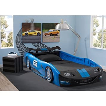 "Delta Children Turbo Race Car Twin Bed | 47.5""W x 22.5"" ..."