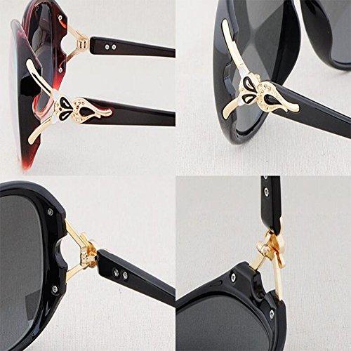 Manejar Moda Puede WX Sol con Equipado Retro Ser Caja Gafas xin 2 De 1 Color Grande Miopía Polarizador fqwBq