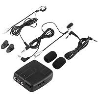 2 piezas Bluetooth interphone de motocicleta, BT Interphone Bluetooth Moto motocicleta casco Intercom Headset V6 1200M