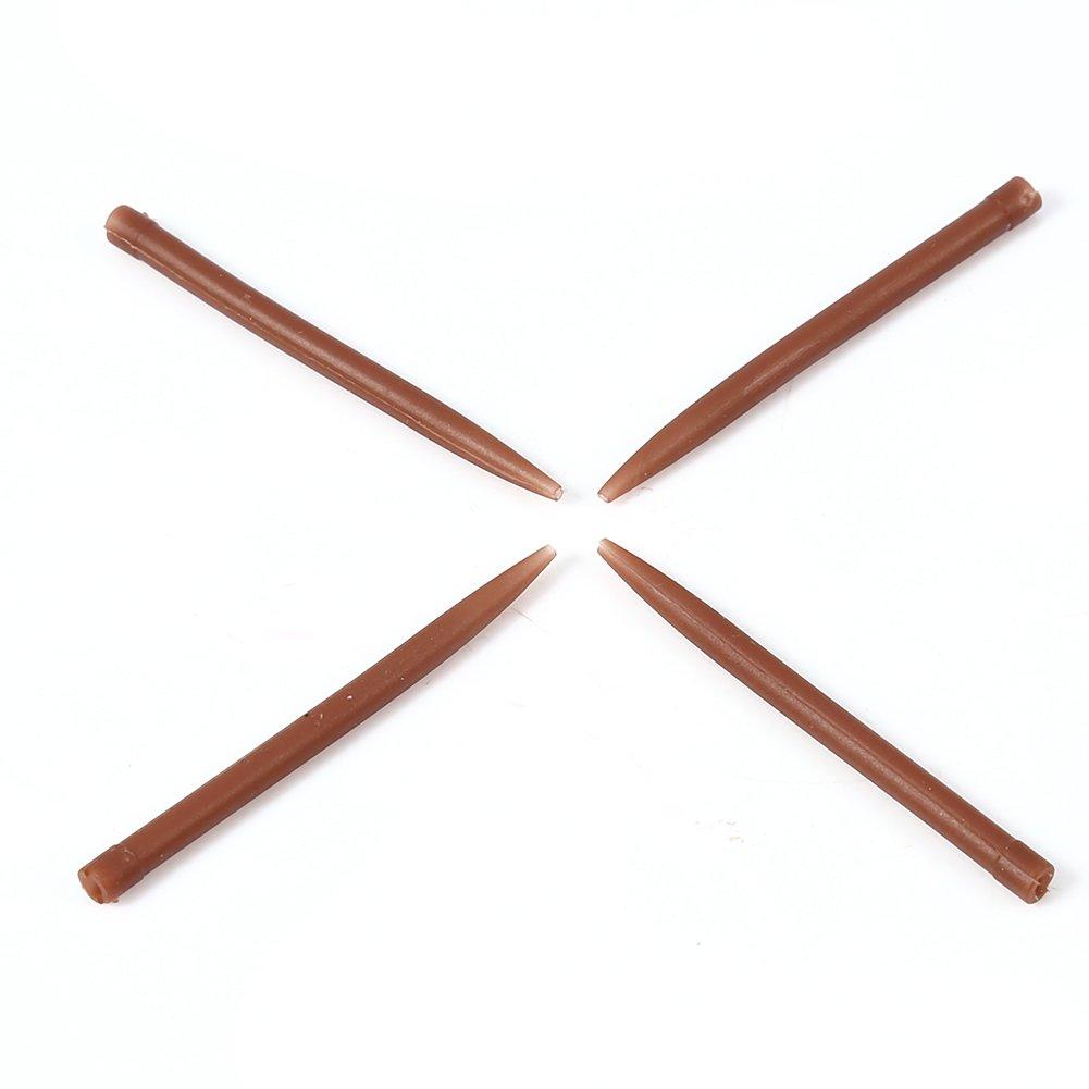 Alomejor 30/St/ück//Tasche 51/mm Anti Tangle /Ärmel Safety Lead Clips Weiche Schwanz Radierer Quick Change Wirbel f/ür Angeln Tackle /Ärmel