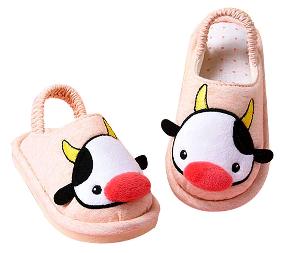 Cattior Toddler Cotton Comfy Cute Kids Slippers House Shoes