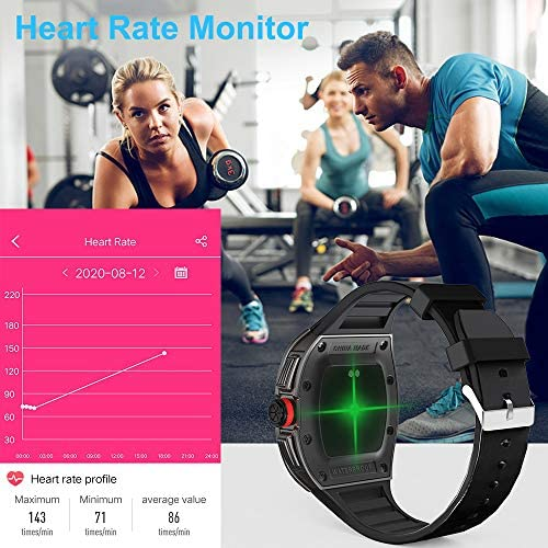 [1.4-inch Full Touch Smart Watch] GPS Running Watch with a Blood Pressure/Heart Rate Test, Calorie Calculator/Female Menstrual /Sleep Information Notification/Incoming Call Reminder/Rejection 51aAkdNoQFL