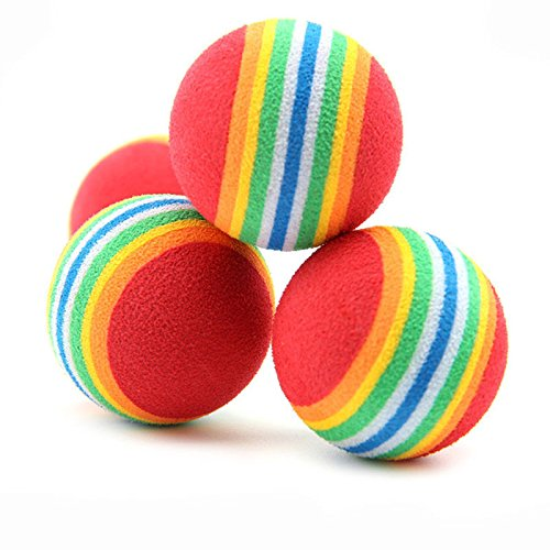 Price comparison product image 6pcs Colorful Pet Cat Kitten Soft Foam Rainbow Play Balls Funny Activity Toys il