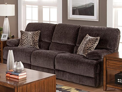 Ingram Dual Power Motion Recliner Sofa in Shadow