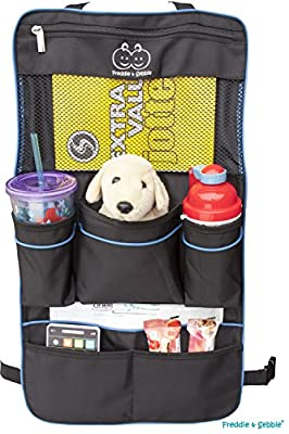 Freddie and Sebbie Backseat Organizer - Luxury Backseat Car Organizer For Kids - Auto Seat Back Cover Protector and Storage - Fits Most Different Suv or Car