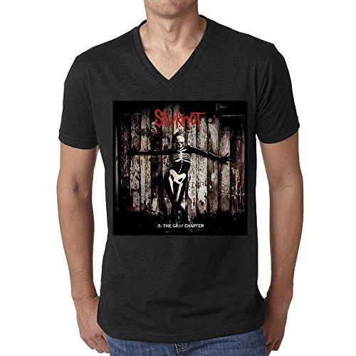 Slipknot .5 The Gray Chapter T Shirt Men V Neck - Bad Club Hawaii Girls