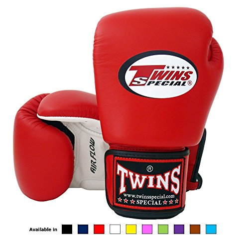 Twins Special Muay Thai Boxing Gloves (Air Flow - White/Red/Black