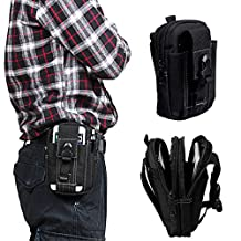 xhorizon TM SR 1000D Nylon Tactical Military Molle Compatible Tough Hard Duty Security Pack Outdoor Holster Hiking Climbingg Carrying Capacity Tool Belt Waist for iPhone 6/6sPlus Samsung