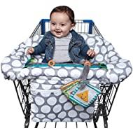 Boppy Luxe Jumbo Dots Shopping Cart and High Chair Cover...