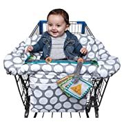Boppy Luxe Jumbo Dots Shopping Cart and High Chair Cover, Gray