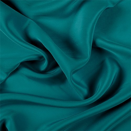 Teal 4 Ply Silk Crepe, Fabric By the ()