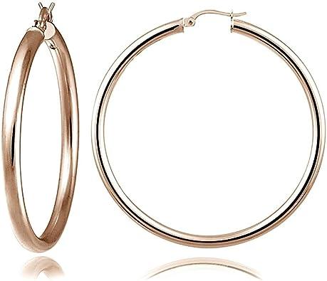 Hoops /& Loops Sterling Silver Polished Flex Bangle Bracelet