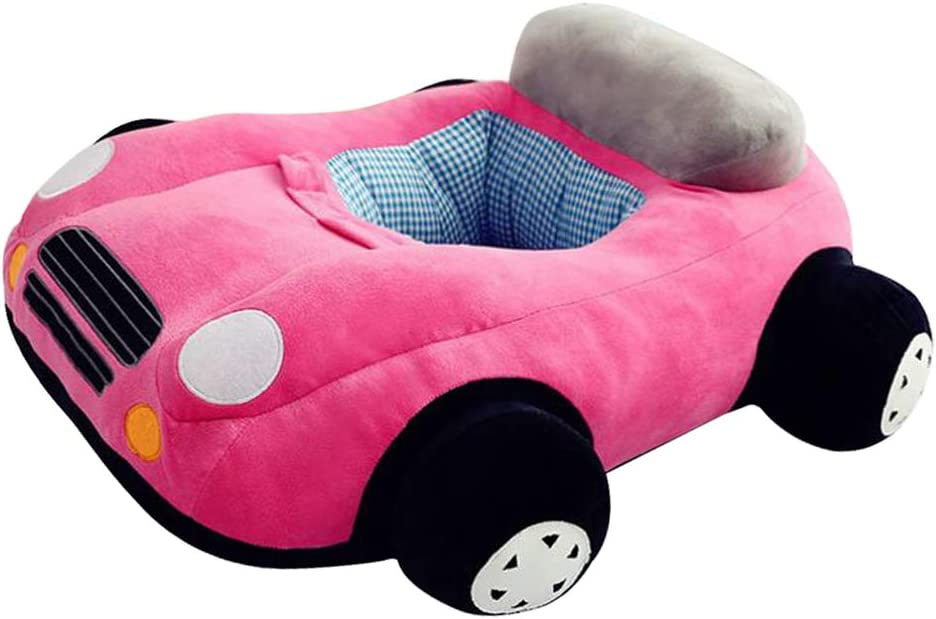 Blue as described Cute Car Kids Relaxing Sofa Seating Chair Cover Only Lazy Bean Bag Baby Nursery Furniture