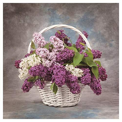 VKTECH Basket Flowers 5D DIY Diamond Painting Kit Partial Drill Round Rhinestone Dotz Embroidery Cross Stitch Needlework Craft Gift Home (Flower Congratulations Basket)