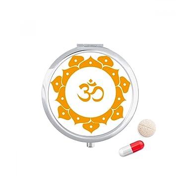 Amazon Com Buddhism Yellow Lotus Sanskrit Pattern Travel