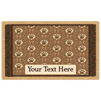 (Drymate Personalized Pet Place Mat - Brown Paw Braid - Personalized Pet Food Mat (Large - 16