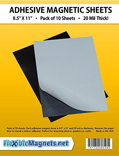 10 Adhesive Magnetic Sheets - 8.5
