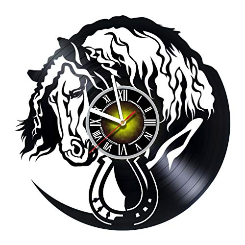Horse Decor Vinyl Record Wall Clock