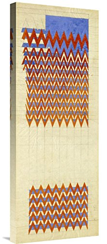 Global Gallery GCS-268268-30-142 Charles Rennie Mackintosh Fabric Design 1916