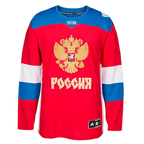 Team Russia 2016 World Cup of Hockey Adidas Men's Premier Red Jersey
