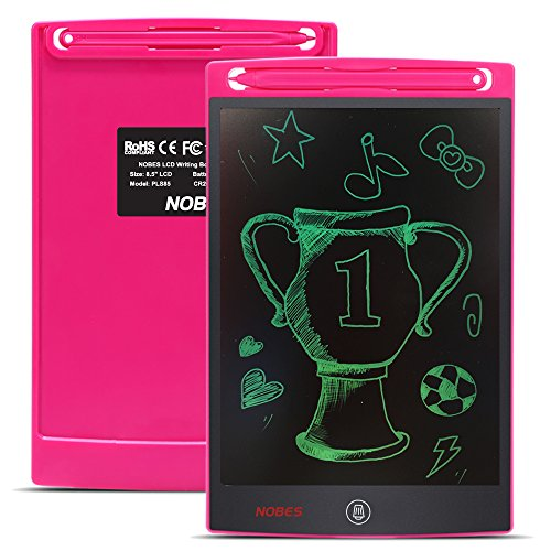 Nobes Newest LCD Writing Tablet 8.5 inch (Upgrade Brightness), Electronic Writing Doodle Pad Digital Drawing Board eWriter, As Office Whiteboard Bulletin Board Memo Notice and Gifts for Kids (Pink) by NOBES (Image #1)