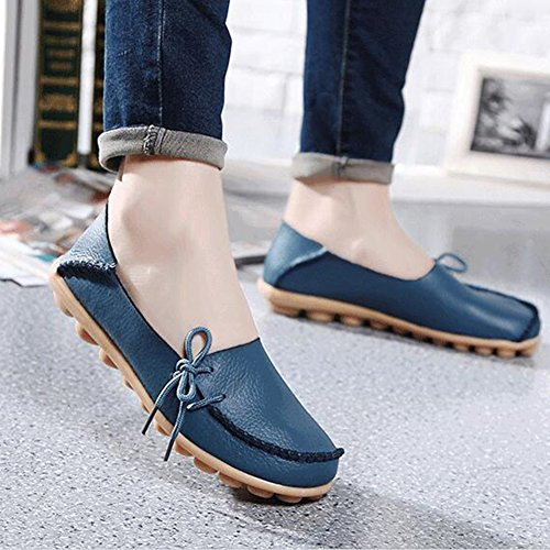 Summerwhisper Comfortabele Dames-schoenen Damesslippers Instapper Loafers Bootschoenen Blauw