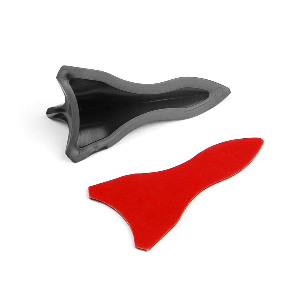 Set of 6 Black Car Roof Mini Shark Fin Tail Wing Spoiler Diffuser Universal Auto Tail Decoration for Most Vehicles