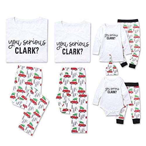 Newborn Baby Christmas Car Spring Clothes Romper Tops +Long Pants Outfit Set (6-7 Years, T-shirt)]()