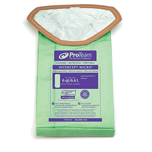 (Zoom Supply Proteam 107314 Vacum Bags, Industrial-Grade Proteam SuperCoach Vacum Bags, SuperCoach Pro 6 Vacum Bag Filters -- Trap Dangerous Airborne Invisible Partciulates)