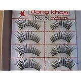 Model 21 Lashes High End No 5, 5A, 5B, 5+glitter, 5purple or 5blue False Fake Eyelashes 10 Pairs