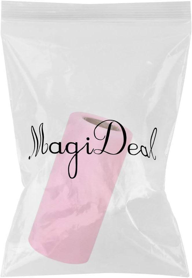Rose Lyanther Rouleau de 6 Pouces en Tissu de Tulle 25yds pour Cadeau Emballage Mariage Arc Banquet d/écoration Artisanat