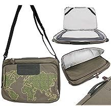 "DURAGADGET Durable 15.6"" Laptop Bag / Case in Khaki 'Outline' Print - Compatible with the Asus ROG G551JM-CN102H | ROG GL551JW-DS71 | ROG GL551JW-DS74 Gaming Laptops"