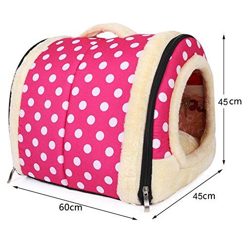 Amazon.com : Ancous Pet Nest & Sofa Bed, Portable Foldable Dog Cat Rabbit House and Winter Soft Cozy Mattress 3 Size (L, Pink) : Pet Supplies
