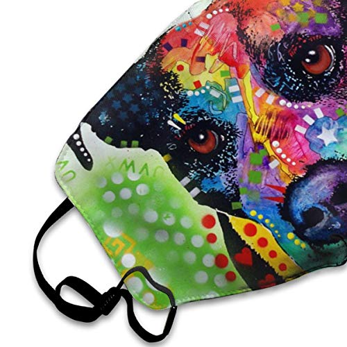 Muindancer Dust Mask, Pitbull Dog Face Mask with Adjustable Earloops Breathable Reusable Outdoor Mouth Cover for Adults Kids