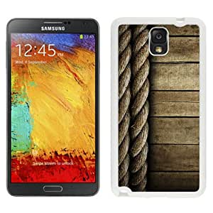 Beautiful Unique Designed Samsung Galaxy Note 3 N900A N900V N900P N900T Phone Case With Rope And Wood Lockscreen Clean_White Phone Case