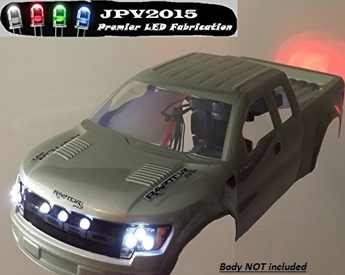 Genuine JPV2015 Product - FITS LARGE 1:10 SCALE VEHICLES! 18 LED Light Kit - (12) Ultra Bright Headlights & (6) Ultra Bright Tail Lights - Premium Quality - Handmade in USA exclusively by JPV2015