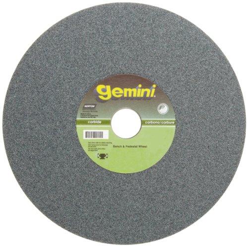 (Norton Gemini Bench and Pedestal Abrasive Wheel, Type 01 Straight, Silicon Carbide, 1