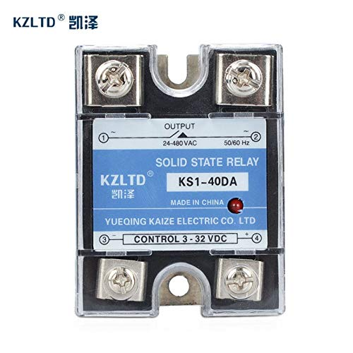 Electrical Equipments Single Phase Solid State Relay 40A Ac Dc Ssr Solid State Relay Ssr-40Da 40A Rel De Estado S Lido Ssr 40A Dc Relay Ssr-40 Da