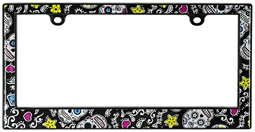 Custom Accessories Custom 92771 Sugar Skulls License Plate Frame ()