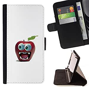 Momo Phone Case / Flip Funda de Cuero Case Cover - Divertido Gran Manzana Ojo - Samsung Galaxy Note 4 IV