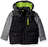 Weatherproof Boys' Outerwear Jacket (More Styles Available)- Chamarra, Multi (Sweater Sleeves-WF01-Black/Charcoal), 4T