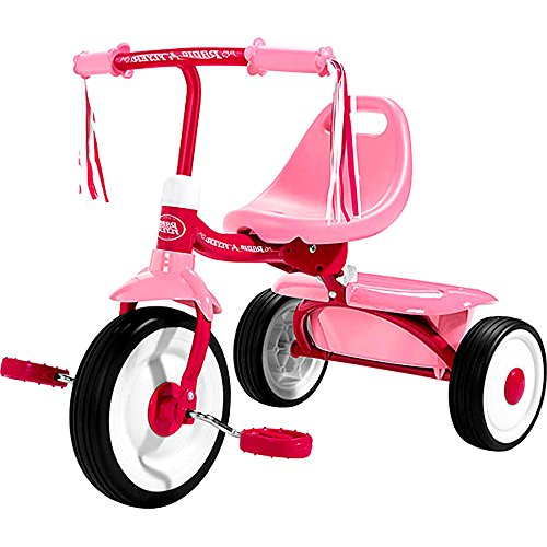 Fold 2 Go Tricycle for Girls, Plastic Pink Foldable Go Tricycle for Kids & (Tricycle Fold 2 Go Trike)