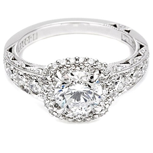 Tacori Semi Mount Diamond Engagement Ring in 18K White Gold (7/8 cttw)