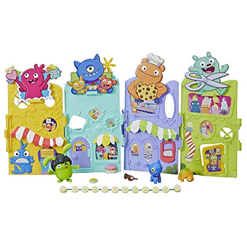 Uglydoll Uglyville Unfolded Main Street Playset & Portable Tote, 3 Figures & Accessories